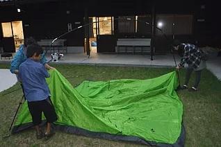 テント張り体験