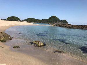 本日の竹野浜の様子です